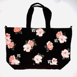 🌺 Victoria's Secret Floral Canvas Tote